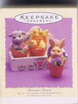 Flower Pot Friends, Set of Hallmark Easter Ornament, 1995 - $7.92