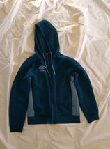 Umbro Men's Poseidon Coronet Blue Full Zip Hoodie Quilted Fleece Sweatsh... - $33.66