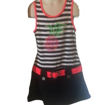 Piper Girls Dress Black Sleeveless Colorful Hip Hugger Summer 7/8 Hippie - $19.80