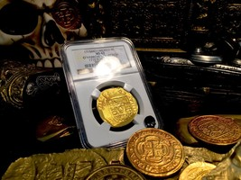 Mexico 8 Escudos 1715 Fleet Shipwreck Ngc 62 Gold Doubloon Cob Coin 3rd Finest K - $45,000.00