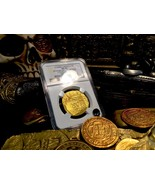 MEXICO 8 ESCUDOS 1715 FLEET SHIPWRECK NGC 62 GOLD DOUBLOON COB COIN 3rd ... - $45,000.00