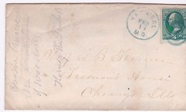 Hannibal, Md Mailed To Chicago, Il 2/17/UNKNOWN Year On #147 - $3.54