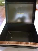 Vintage Art Steel Co Metal File Filing Box With... - $15.99