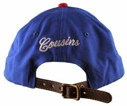 Cousins SportsWear Men's Hollywood Directors Leather Strapback Baseball Hat NWT image 11