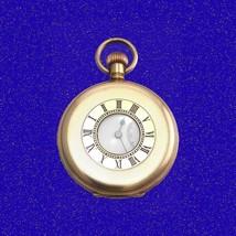 Superb 14k Gold Longines Keyless 17 Jewel RailRoad Half-Hunter Pocket Watch 1910 - $586.25