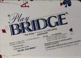 Vintage Allan Cahn Play Bridge Board Game 1989 by Play Bridge - $39.59