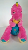 "Vintage 1986 Commonwealth Dinosnores Pink Plush Stuffed Dinosaur Doll Toy 11"" - $14.79"