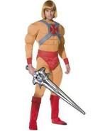 He Man/Prince Adam Costume, He-Man Autorizzato Cartoon, Torace 107cm-112cm - £55.69 GBP