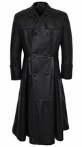 Men's Morpheus Full Length Matrix Leather Jacket Coat - $99.99