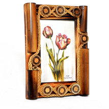 4X6 Picture Frame Made of Solid Wood High Definition Glass for Table Top... - $22.95