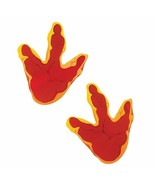 "Large Dinosaur Foot Print Floor Decal Clings (12 Pack) 8"" Long  - $13.29"