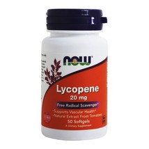 NOW Foods Lycopene Double Strength 20 mg., 50 Softgels - $23.95