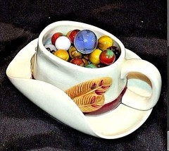 Mables in Porcelain Cowboy Coffee Cup with 1 Shooter AB 770 60 Vintage image 1