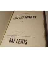 Ray Lewis Signed Copy I Feel Like Going On HARDCOVER Book Ravens - $28.99
