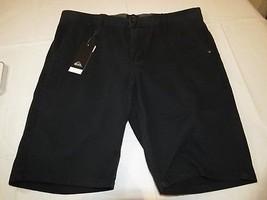 Quiksilver Everyday Chino Short KVJ0 black 33 straight fit men's shorts NEW - $79.19