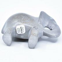 Crafts Caravan Hand Carved Natural Dove Gray Soapstone Elephant Figure image 5