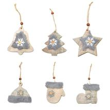 Wooden Christmas Themed Tree Ornaments - $10.54