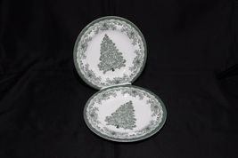 Staffordshire Engravings Yuletide Green Salad Plates and Soup Bowls image 8