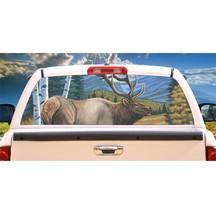 Elk Caretaker Rear Window Mural, Decal, or Tint for rear window in Truck, RV, Ca - $77.99