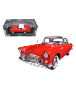 1956 Ford Thunderbird Hardtop Red with White Top American Classics 1/18 Diecast  - $52.74