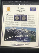 2005 Oregon State Quarter P&D Mint Postal Commemorative Society - $6.25
