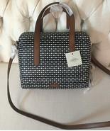 Fossil Hailey Black & White Satchel Handbag New FREE SHIPPING!!! - $79.99