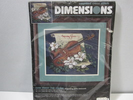 How Sweet the Sound Dimensions Counted Cross Stitch Kit Amazing Grace #3843 1997 - $65.29