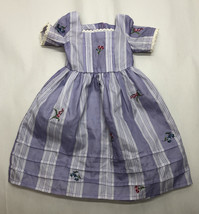 American Girl Pleasant Company Felicity Traveling Gown Purple White - $33.65