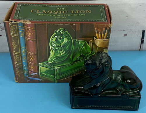 Primary image for Avon Classic Lion Deep Woods Aftershave Bottle Fully Intact In Box EMPTY Vintage
