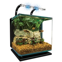Best Aquarium Kit Light  Filter Pump WaterTank Fish Design Room Home Moo... - $109.81