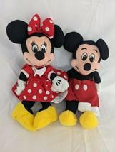 "Disney Mickey and Minnie Mouse 8"" Plush Mini Beans - $14.95"