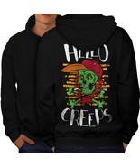 Skull Head Hello Creeps Sweatshirt Hoody  Men Hoodie Back - $20.99+