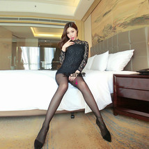 pl033 Sexy lace sleeve super mini dress, free size, black - $32.80+