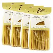ZPasta Garlic Angel Hair - Bronze Cut Artisan Pasta 12 oz (4 Pack) - $21.77