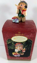 Hallmark 1999 Collector's Club Artic Artist Elf Membership Christmas Ornament  - $13.85