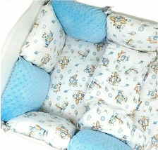 11pcs PILLOW BUMPER Toddler Bed Crib Bumpers Set of Bedding For Cot Bed Minky - $139.90