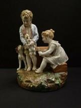 All Original Paul DUBOY Kids & Beagles Puppies Dog Statue Porcelain circ... - $1,395.00