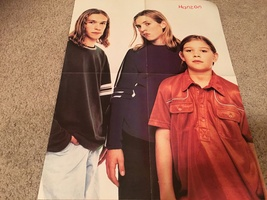 Hanson Spice Girls teen magazine poster clipping looking sad vintage 90's