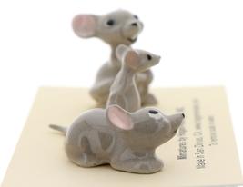 Hagen-Renaker Miniature Ceramic Mouse Figurine 3 Piece Family Set image 2