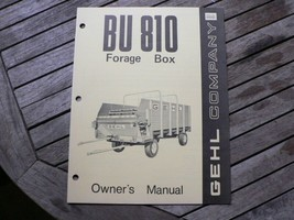 Gehl Company BU810 Forage Box Owners / Operators Manual Book West Bend WI - $50.00