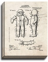 Fire-protection Suit Patent Print Old Look on Canvas - $39.95+