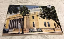 "Vtg Florida Sarasota US Post Office 16 3/4"" x 10 12"" Art Board Style Pos... - $44.10"