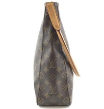 #33576 Louis Vuitton Looping Bucket Gm Tote Brown Monogram Canvas Shoulder Bag image 8