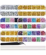 Bememo 13000 Pieces Nail Art Rhinestones Kit Nail Rhinestones Nail Studs... - $22.76