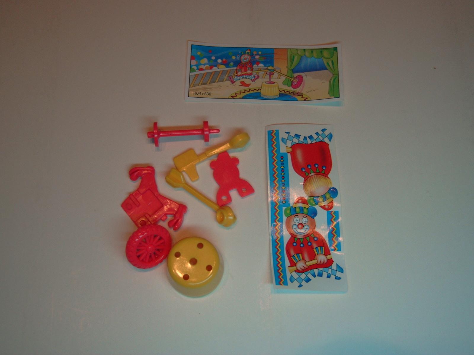 Kinder - K04 30 Balancing clown + paper + sticker - Surprise egg - $1.50