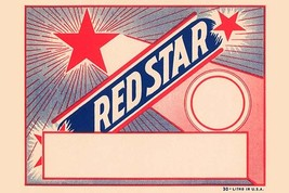 Red Star Broom Label - Art Print - $19.99+