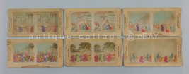 LOT 1860 antique STEREOVIEWS PASSION PLAY crucifixion hand service colored - $42.50