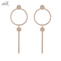 Geometric Stud Earrings Golden Alloy Round Punk Vintage Earring Studs Je... - $7.95
