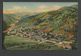 Linen Postcard Idaho Springs, Clear Creek Canyon, Colorado - $9.00