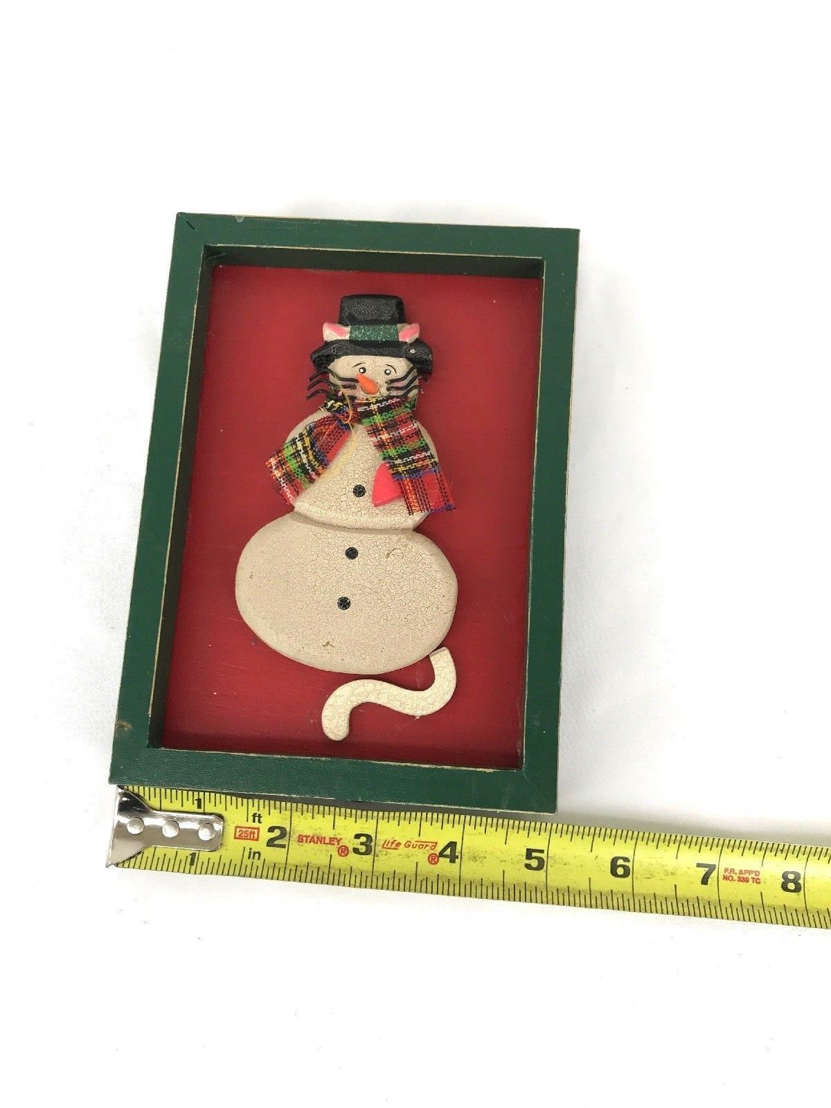 Christmas Mouse picture frame wooden